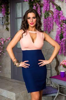Платье с глубоким вырезом декольте Angela Ricci со скидкой
