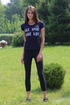 Костюм для фитнеса: футболка и легинсы FIORITA