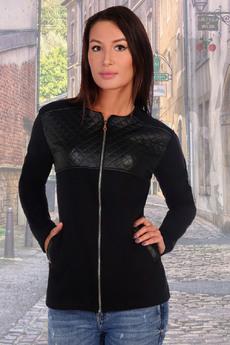 ХИТ продаж: жакет на молнии со вставками на груди под кожу Натали