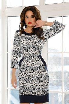 Теплое платье с карманами Open-Style со скидкой
