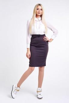 Шоколадная юбка-карандаш Paola Rossi